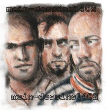 Rockmond Dunbar, Robert Knepper, Amaury Nolasco par mein-dessins1402